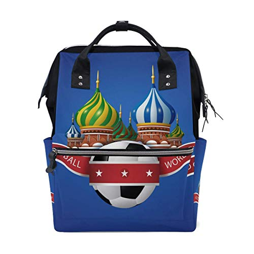 NHJYU World Cup Football Travel Sac à dos Large Nappy Sac à langer Laptop Sac à doss for Women Men