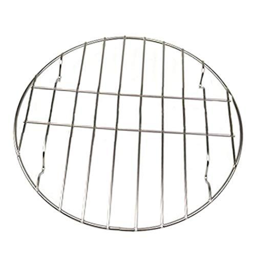 Silver Cabilock Grille de cuisson ronde en acier inoxydable 20 cm 20cm Argent