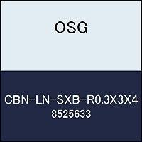 OSG エンドミル CBN-LN-SXB-R0.3X3X4 商品番号 8525633