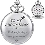 Taschenuhr-ManChDa Personalisierte Gravierte Groomsmen Taschenuhr Quarz Taschenuhr - Groomsman...