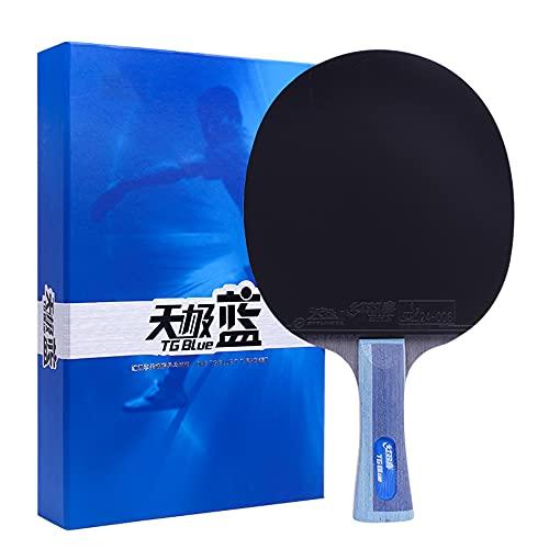 LINGOSHUN Raquetas de Tenis de Mesa,Juego de Paleta de Ping-Pong Profesional de CompeticióN para Nivel Intermedio,DiseñAdo para la Velocidad / 1 Pack/Long handle
