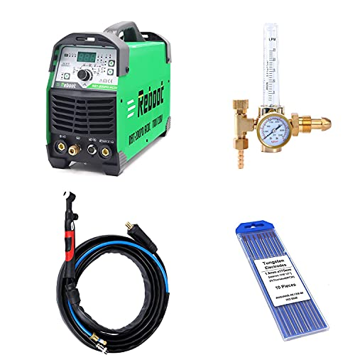 """Reboot TIG Welding Torch WP17FV 13 Feet Air Cooled with 10-25/35-50 Plug Valve 0.04""""-1/8"""" Tungsten Electrodes TIG Welder Adapter for High Frequency Lift TIG Arc Welder"""