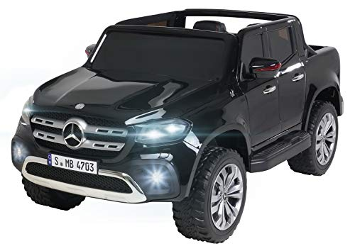 Actionbikes Motors Kinder Elektroauto Mercedes Benz X-Klasse - Lizenziert - 4 x 45 Watt Motor - Multimedia-Touchscreen - Kinderauto (Schwarz Lackiert)