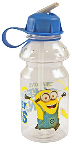 MINIONS 2556; Botella de Agua Sport, Capacidad 400 ml;