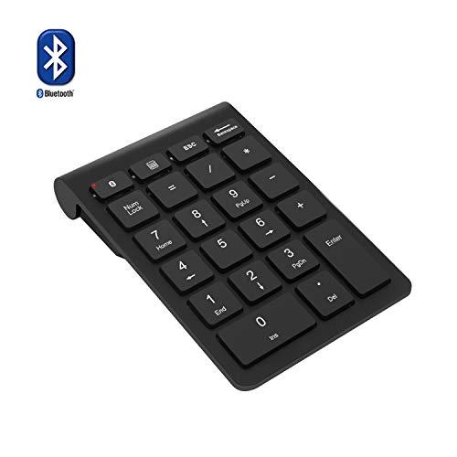Bluetooth Ziffernblock, Rytaki tragbarer kabelloser Bluetooth Ziffernblock mit 22 Tasten Tastaturerweiterung für Buchhaltung und Finanzanwendungen Datenerfassung für Laptop, Desktop, PC und Notebook.