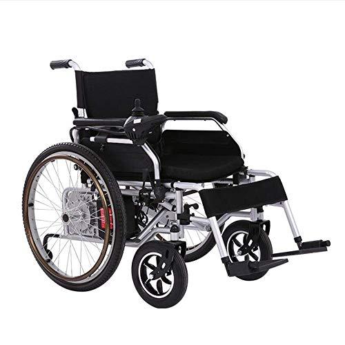 Wheelchair Tragbarer Faltbarer Elektrorollstuhl Leichter Li-Ionen-Akku mit Zwei Motoren Motorisierter Rollstuhl Manueller elektrischer Antrieb Sicher und einfach zu Fahren
