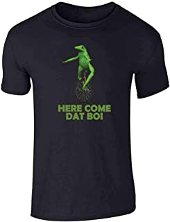 Here Come Dat Boi Meme Frog Funny Unicycle Graphic Tee T-Shirt for Men