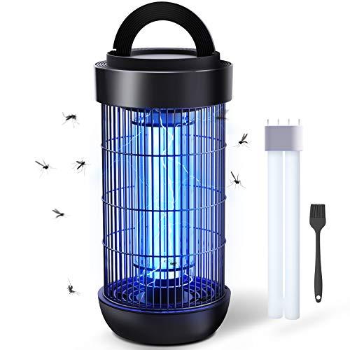 Lámpara Antimosquitos Eléctrico, 1800V Mosquito Lámpara Trampa, 18W UV LED Mosquito Killer Lámpara con IPX4 Impermeable, Ideal para Interiores y Exteriores