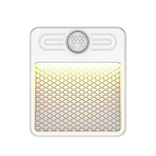 RYRA 6 LED de luz sensor de movimiento en el interior, luces del armario de carga USB, luces inalámbricas bajo el armario para escaleras, pasillo, dormitorio, cocina, armario, 3000K