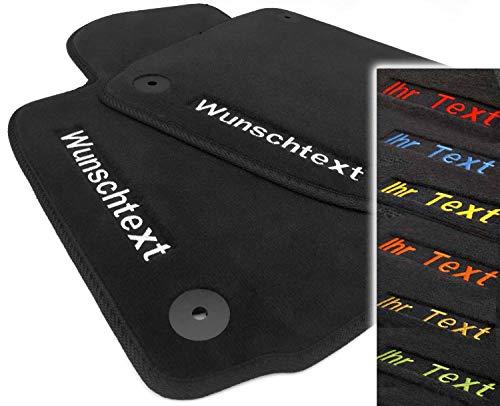kh Teile Auto Fußmatten passend für Golf 7 - Bestickt Bedruckt Text Namen Werbung Geschenk usw. hochwertige Velours Automatten, Lieferumfang: 4-teilig (vorne + hinten)