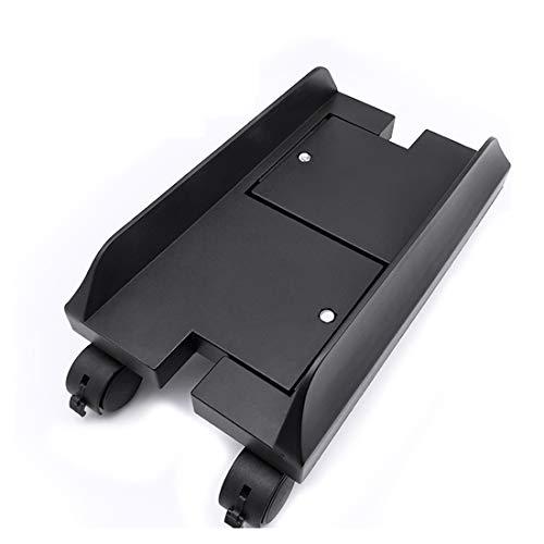 Carrello Porta PC,Supporto con Ruote per Computer a Larghezza Regolabile,Supporto per Monitor Regolabile Removibile Mensola Supporto - Nero