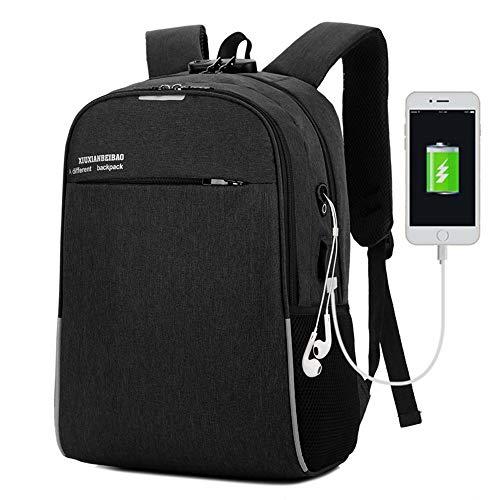 HFA Wasserdichter Computerrucksack mit USB-Ladestation für Campingreisen im Freien, neutrale Seg
