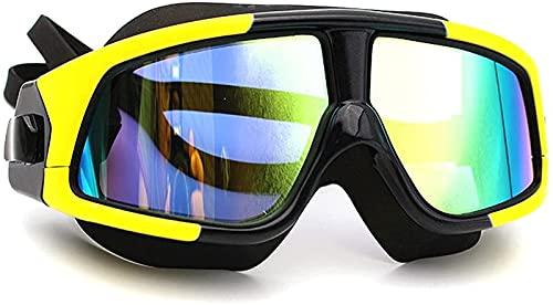 AWJ Gafas antivaho de luz Plana Gafas antivaho Gafas de natación Gafas de Buceo Antivaho para Adultos, Verde