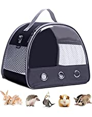 Small Animal Carrier for Guinea Pig, Hamster, Hedgehog, Squirrel and Rats, Pet Travel Carrier for Small Animals