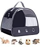 Small Animal Carrier Bag, Portable Guinea Pig Carrier for 2, Hamster Cage, Bird Rat Guinea Pig Squirrel Carrier