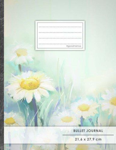 "Bullet Journal • A4-Format, 100+ Seiten, Soft Cover, Register, ""Gänseblümchen"" • Original #GoodMemos Dot Grid Notebook • Perfekt als Tagebuch, Zeichenbuch, Kalligraphie Buch"