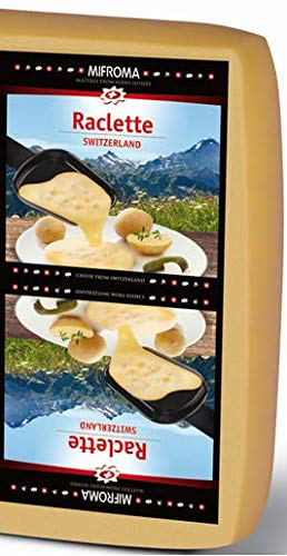 Raccard (Mifroma) Swiss Raclette - Square, Great for Slicing (Half Square (6-7 Pounds))