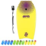 BPS Body Board 'Green Machine' 33-inch for Kids Teen Adult Surfers - High-Performance