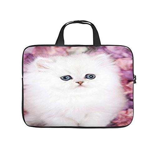 Lovely White Cat 10InchLaptopSleeveCaseProtectiveCoverCarryingBagfor9.7'10.5'IpadProAir/10'MicrosoftSurfaceGo/10.5'SamsungGalaxyTab