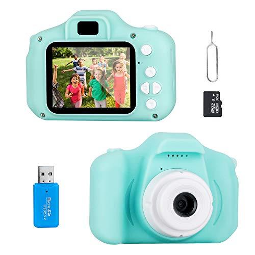Jooheli Cámara Digital para Niños, Cámara Infantil con Tarjeta de Memoria Micro SD 32GB Digital Video Cámara Cumpleaños Regalos para Niños y Niñas de 3 a 12 Años (Verde Claro)