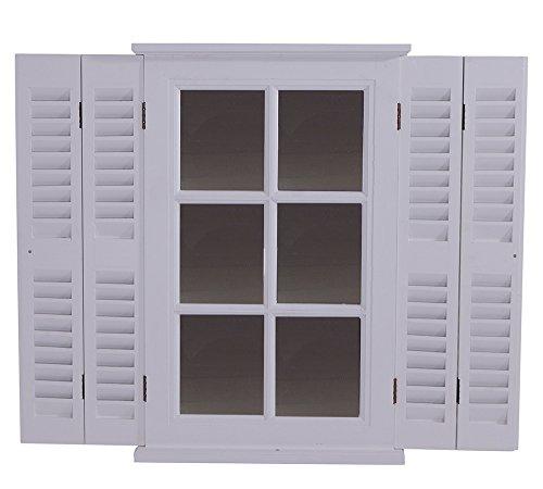 Vintage-Line Spiegel Karlum weiß Landhaus Hängespiegel Wandspiegel Deko Flur Diele Fensterrahmen