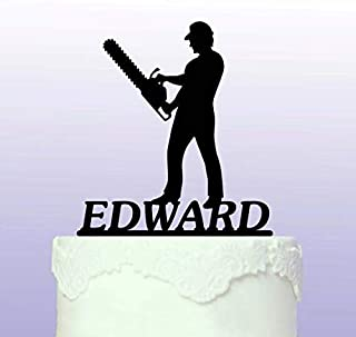 Personalised Chainsaw Cake Topper