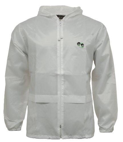 G5 APPAREL Lawn Bowling White Kagool Cagoule Unisex Hooded Rain Jacket Bowls (L)