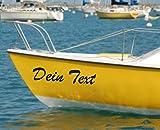 Shirtstown - Etichette autoadesive per barche Taglie per barche, vetroresina, barche a vela, piste da pesca, kayak, canottaggio, 2 nomi di barca, diverse misure