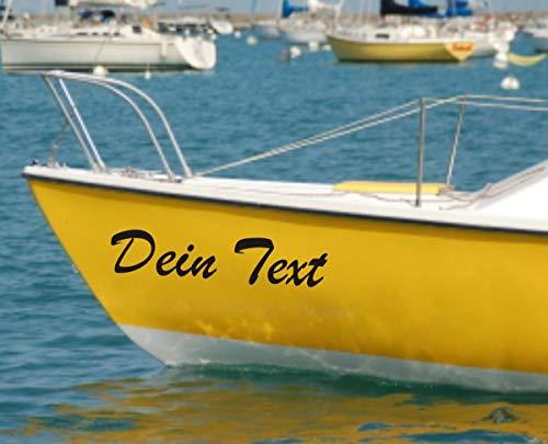 Shirtstown Papel autoadhesivo con nombre o letras para barco, diferentes tamaños para barco, plástico reforzado por fibra de vidrio, velero, barco de pesca, kayak, bote de remo, pegatina con 2 nombres de barco, diferentes tamaños