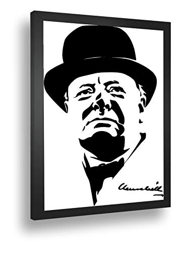 Quadro Decorativo Poster Winston Churchill Político Cartoon