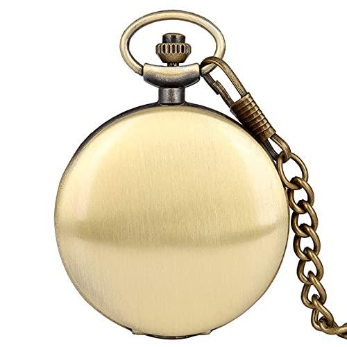 YYSD Reloj de Bolsillo de Cuarzo con Texto fotográfico Impreso Personalizado de Doble Cubierta con...