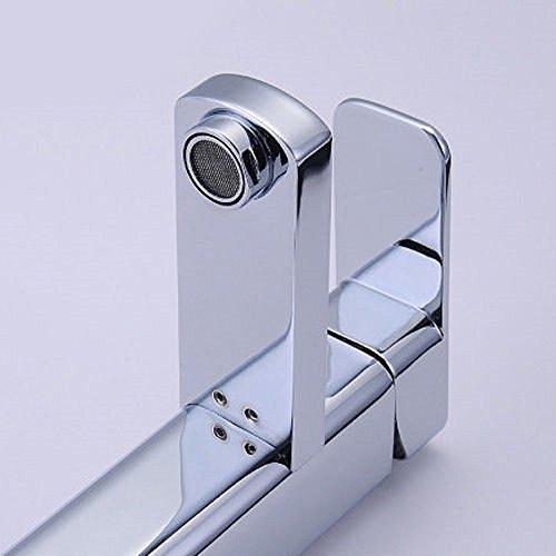 AllRight Badarmatur Wasserhahn Waschtischarmatur Einhandmischer hoch Bad Küche Armatur - 4