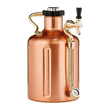 uKeg 128 Pressurized Growler for Craft Beer - Copper