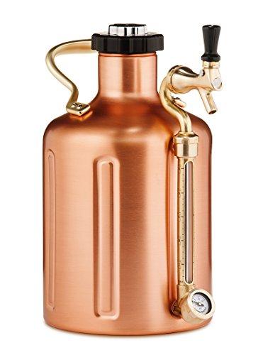Pressurized Growler for Craft Beer - Copper