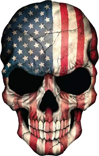 OTA STICKER Vinyl Skull Skeleton Devil Ghost Monster Zombie America Flag Native Military Soldier Ranger Halloween Rock Metal Heavy Decal Laptop Water Bottle Motorcycle Helmet Luggage Gift
