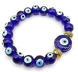 Jaz's Evil Eye Handmade Bracelet & Pendant (Buri Nazar/Buri Drishti/Suraksha Kawach) Root Chakra Enhancer/Activator & Good Luck Protection Bracelet for Unisex