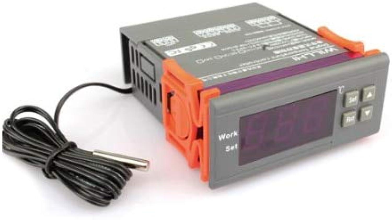 BIN BON  220V Digital Temperature Controller Thermostat for Aquarium Terrarium incubators paludariums 9.9 Celsius  99.9 Celsius