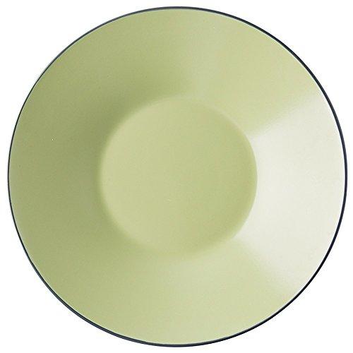 AINUO Platos Platos de cerámica de Gran Profundidad para Pasta, Fruta, Ensalada o Sopa Plato Verde Hierba de 12 Pulgadas