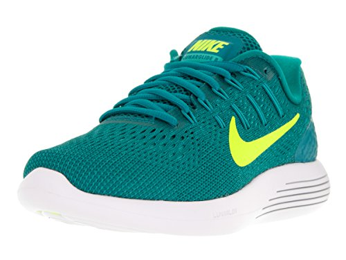 Nike Women's Lunarglide 8 Rio Teal/Volt-Clear Jade-Midnight Turquoise Ankle-High Mesh Running Shoe - 5.5M