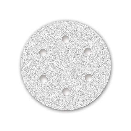 MENZER White Klett-Schleifscheiben, 225 mm, 6-Loch, Korn 120, f. Trockenbauschleifer, Korund mit Stearat (25 Stk.)