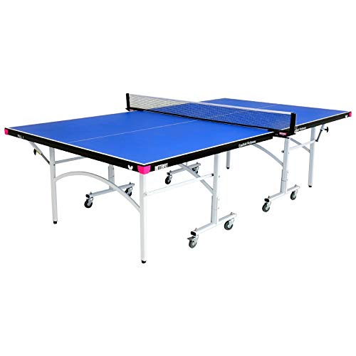 Butterfly Fitness 16mm Table Tennis Table with Net Set-Features 3 Year Warranty 10 Minute Assembly Compact Storage Playback Mode