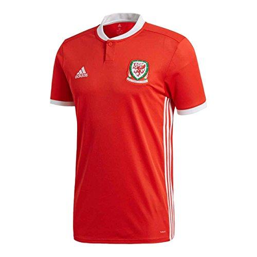 adidas Herren Wales Heimtrikot, Red/White, XS