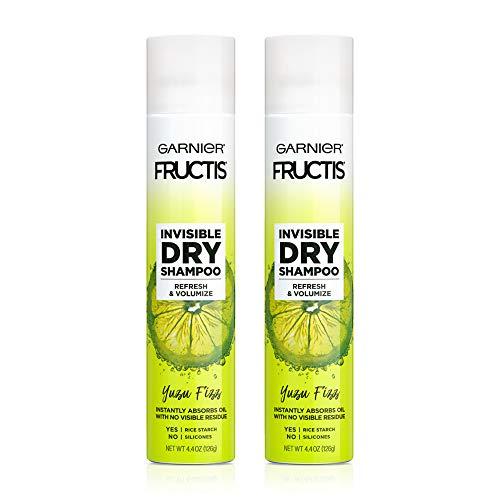 Garnier Fructis Invisible Dry Shampoo, Yuzu Fizz, No Visible Residue, , 4.4 oz. (Pack of 2)