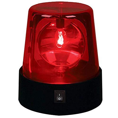 Gloeilamp, DEL stroboscooplicht, 360 graden draaibare disco lamp, IP44 waterdicht knipperen podiumlicht strobo licht met schakel-besturingselement voor club, DJ show, thuis party 1pcs rood