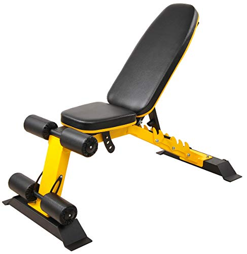 BalanceFrom Monster Heavy Duty Adjustable and Foldable Utility Weight Bench for Upright, Incline, Decline, and Flat Exercise, 1000-Pound Capacity