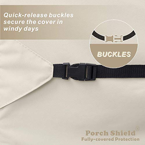 Porch Shield Square Hot Tub Cover 85 inch, Waterproof Outdoor SPA Hard Cover Protector