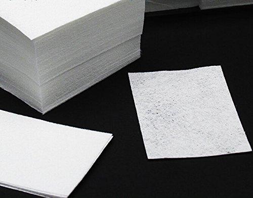 Beauty7 Lot de 900 Nail Art Lingettes Carré Cotton Papier de Nettoyage Pour Vernis Gel Acrylique Tips à Ongles Conseils Dissolvant Manucure Pédicure