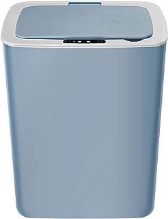 Commercial Waste Basket Kitchen Trash Can Office Household Indoor Smart Trash Can with Lid Toilet Living Room Bathroom Sen...