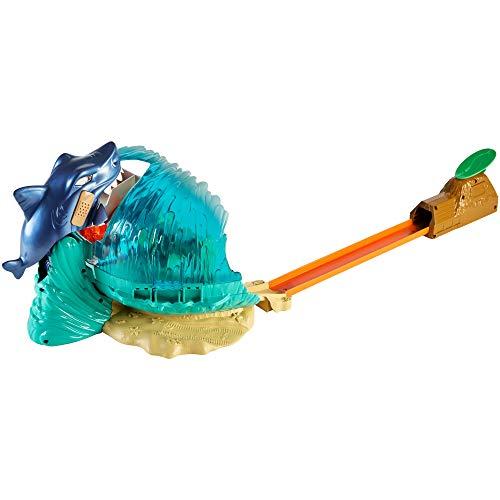 Hot Wheels - Tiburón Megadestrucción, pista de coches de juguete (Mattel GWT35)