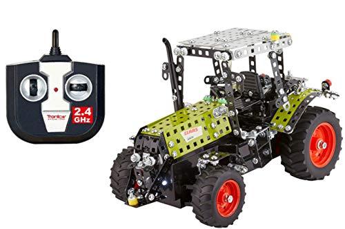 TRONICO Metallbaukasten RC Traktor 2.4G Claas Konstruktionsspielzeug Mint STEM Modellbau Bauen mit Werkzeug